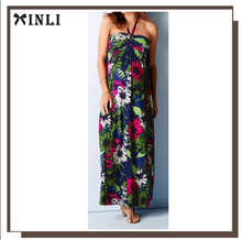 Vestido largo de mujer con estampado de flores y Vestido de bohemia