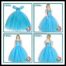 2015 últimos diseños Simple largo vestido de cenicienta vestidos para las muchachas de la boda DressesTutu vestido de noche