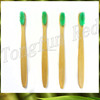 Environmental long handle wooden promotional disposable toothbrush for hotels