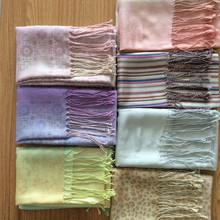 50% silk 50% wool OEM silk brand design handkerchief factory