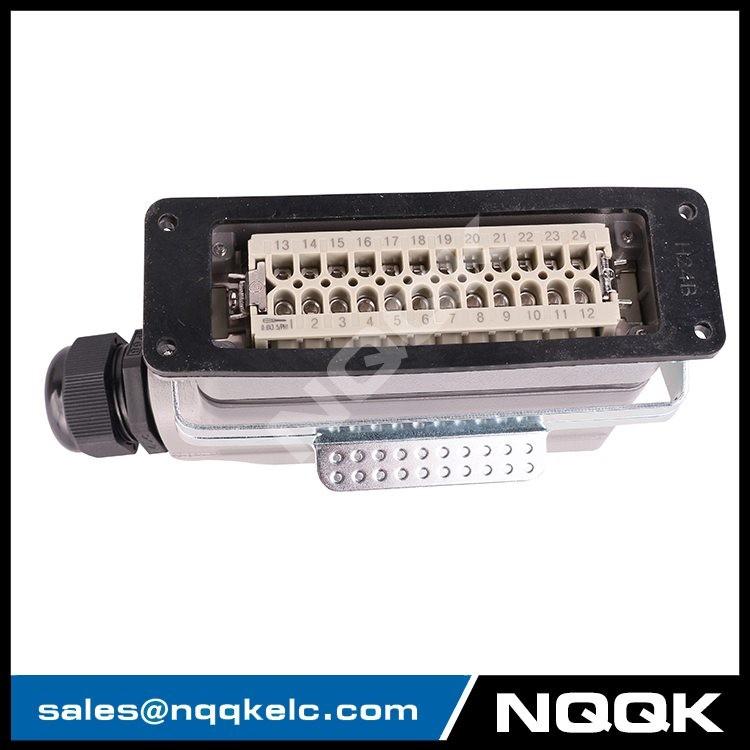 4 nqqk nqqkelc 24 pin Screw spring  surface mouned heavy duty sockets connector.JPG