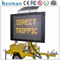 system sun panel p12 trailer moving led screen 16x128 led moving message board