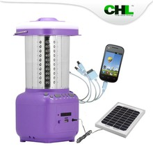 2015 new CHL outdoor solar lanterns with fm radio, usb mobile phone charger