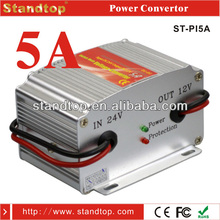 high quality 5A 24v dc to 12v dc converter