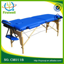 wooden massage couch/ wood massage table folding bed