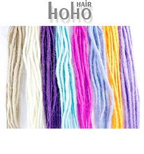 Raw high quality.Braids hair.Dirty Reggae rainbow wig of dreadlocks .Nepal wool felt poke fun.