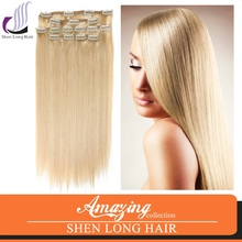 2015 the most popular hair products unprocessed brazilian hair extension clip in hair extension