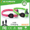 Several colors China factory led flashing dog pet collars