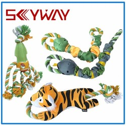 Animals chewing dog toys