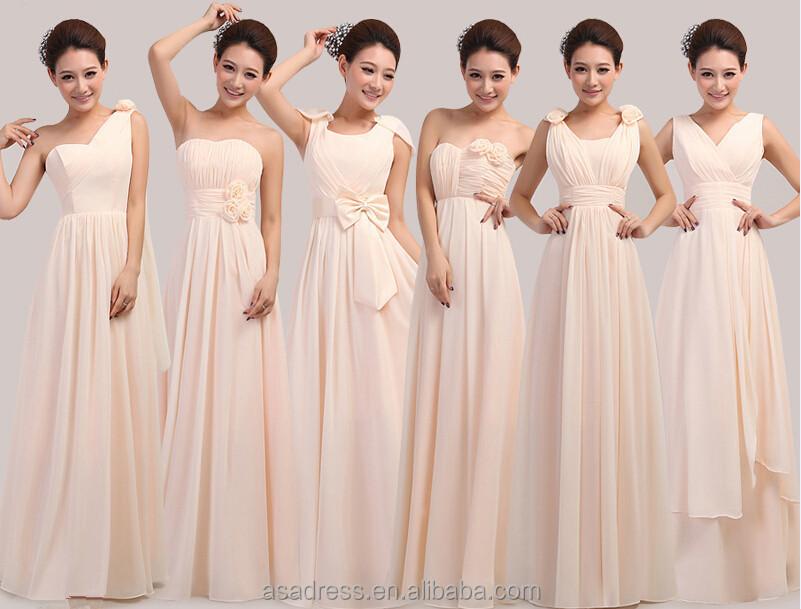 Elegant Real Sample Strapless Chiffon Bridesmaid Dress Patterns 2015 ...