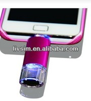 Smart otg mobile phone usb flash drive from 2GB to 64GB and with tf card reader function