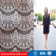 eyelash 100%polyester lace fabric