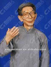Famous crosstalk master silicone rubber statue