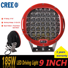 New Products roud Jeep SUV ATV 4x4 Truck Trailer 16800LM 9inch 185W offroad roof LED Driving Lights for car accessories