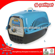 blue big American style flight cage,pet air carrier,pet air box