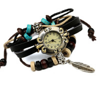 woman watches fashion ladies fashion watches trendy Hand woven leather watch