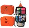 Custom good quality oxford fabric hanging travel bag organizer professional wholesale exquisite makeup bag with original zipper