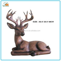 Bottom price promotional small decoration resin deer figurines
