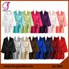 2902 Long Sleeve Short Design Solid Satin Wedding Bridesmaid Robe