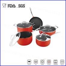 9pcs alumium non-stick cookware set with S/S handle