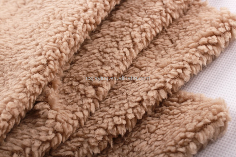 Knit Lining Fabric Knitted Solid Sherpa Lining