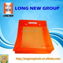 Orange Button Portable shopping plastic bag