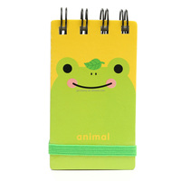 Korea Style Stationery Cartoon Animal Cover Mini Coil Notebook Blank Pages Diary Journal Sketch Drawing Student Supplies