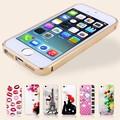 Için metal telefon kılıfıiphone 5s aksesuarları, plastik renk değişimi arka kapakiphone 5