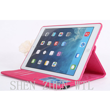 2015 high quality leather case with stand for ipad 5