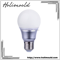 Energy saving wholesale silver color A60 E27 7w 9w led light bulb
