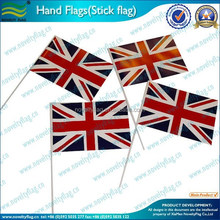 Very cheap PE hand held flag, hand waving flag