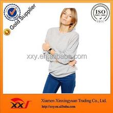 Fashion ladies apparel blank round neck sportswear jerseys,custom women wear sweatshirts online shopping