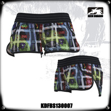Ladies Hot Sexy Color Print Tight Female Hot Beach Shorts