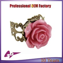 2015 Fashion Vintage resin Flower Rings Jewelry Wholesale