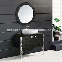 LANBOR Complete Classic Modular Solid Wood Makeup All In One Bathroom Sink Vanity Unit CK021