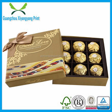 Factory directly sale eco-friendly chocolate packing box for birthday gift