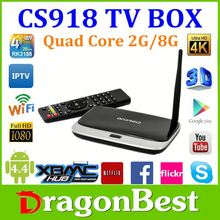 Smart Tv Dream Link Hd Box Android 4.2.2 Cs918 Quad Core Rj45 Android 4.2 Google Quad-Core Wifi Rk3188 Tv Box