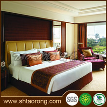 Commercial 5 star hotel wooden new design double bed