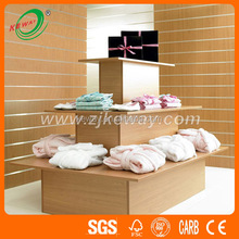 3 tier wood display table for clothing store