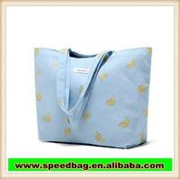factory direct sale banana print lady tote bag canvas shopping bag shoulder bag R118