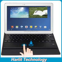 Folio Leather Case With Touchpad Bluetooth Keyboard For Samsung Galaxy Note 10.1