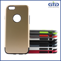 [NP-2475] Smooth Hybrid 2 in 1 PC Back Case with Flexible TPU Interior for iPhone 6