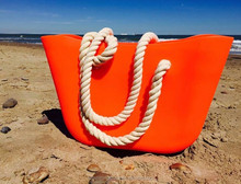 2015 italy fashion Candy color beach o bag rubber bag silicone tote bags