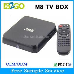 Factory M8 Amlogic S802 2g 8g quad core octa core tv box