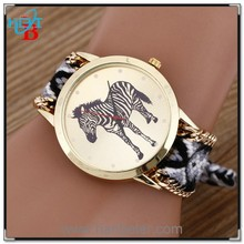 Most popular watches wholesale wrist for fashion ladies geneva knitted watches