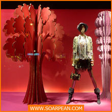 fashion store custom cheap decorative cardboard tree