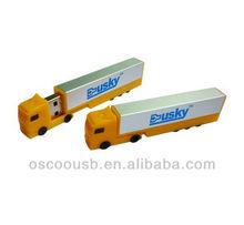 Truck shape usb memory stick, customized logo printing usb flash drives, high quality usb key 2gb 4gb 8gb