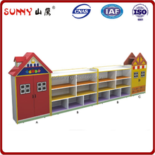 Wholesale firm wooden child toy closet for sale
