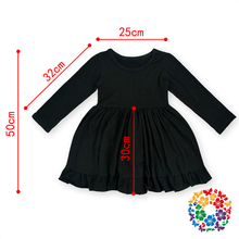 Black Solid Color Crochet Knitting Baby Clothes Girls Birthday Dresses Kids Child Princess Dresses