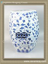 RYNQ47 Oriental blue and white garden stool